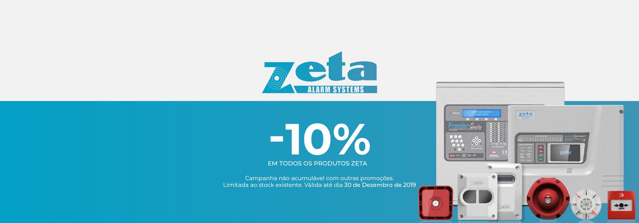 -10% em todos os produtos Zeta!