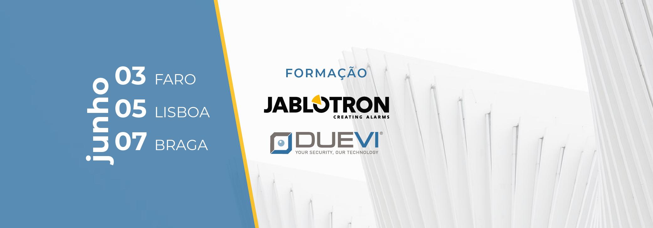 Formação JABLOTRON + DUEVI   Junho 2019