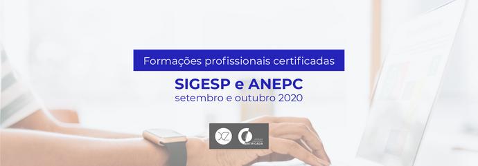 Formações Certificadas | SIGESP e ANEPC